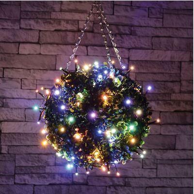 Inventivo Set 40 Led Multi Colore Luci Decorativa Fata Natale Xmas Outdoor-timer-mostra Il Titolo Originale Ad Ogni Costo