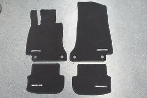 Original-AMG-C63-Mercedes-C-Klasse-W205-S205-Fussmatten-Satz-schwarz-A2056805905