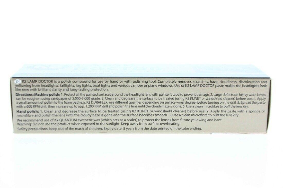 3x ORIGINAL K2 LAMP DOCTOR Aufbereitungs-Set Scheinwerferpolitur 60g