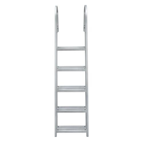 Pontoon Dock Ladder Heavy Duty Aluminum 5 Step Removable Boarding Ladder