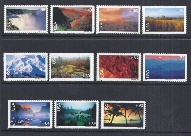 US Airmail Scenic Landscapes/National Parks 1999-2007 - SC#'s C133-C143, MNH*