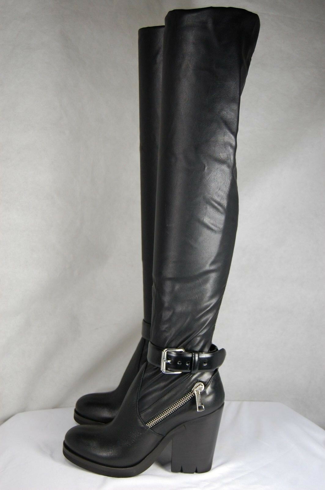 STRATEGIA MADE IN ITALY KNEE LEATHER&FAUX STRETCH OVER THE KNEE ITALY Stiefel EU 41 US 11 ec684d