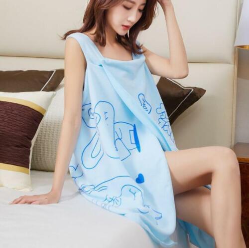 Women Fast Drying Wearable Bath Towel Shower SPA Wrap Body for Bathroom Bathrobe