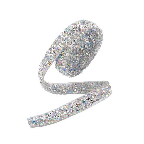 Glitter Resin Hotfix Crystal Rhinestone Ribbon Costume Accessories 1yard 0.91m