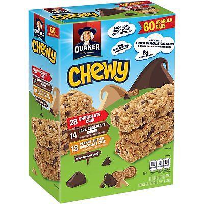 2PK Quaker Chewy Variety Granola Bars Healthy Snacks Breakfast Huge Bulk  Box 6Lb | eBay