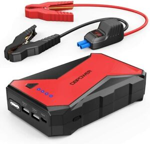 DBPOWER DJS80 1000A Portable Car Jump Starter Battery Booster and LED Flashlight