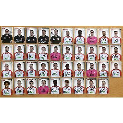 39 AK FC Augsburg Autogrammkarten 2017-18 original signiert