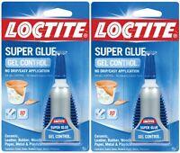 2 4g Loctite Super Glue Gel Control Clear No Drip Leather Cork Rubber 234790