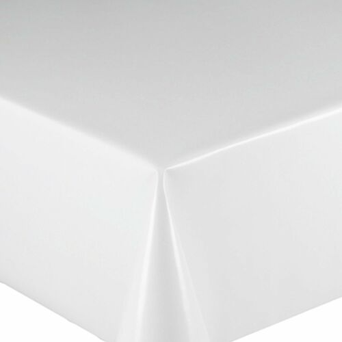 LUXURY PLAIN PRINTED ALL OCCASIONS VINYL OIL PVC PLASTIC TABLE CLOTH COVER PARTY