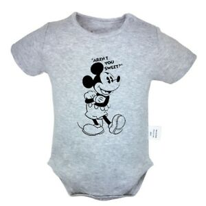 63c6bef7e Image is loading Funny-Disney-Mickey-Mouse-Newborn-Jumpsuit-Baby-Romper-
