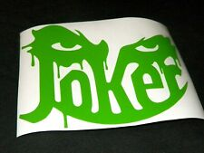 Joker Face Funny Sticker Vinyl Decal For Car And Others Finish Glossy