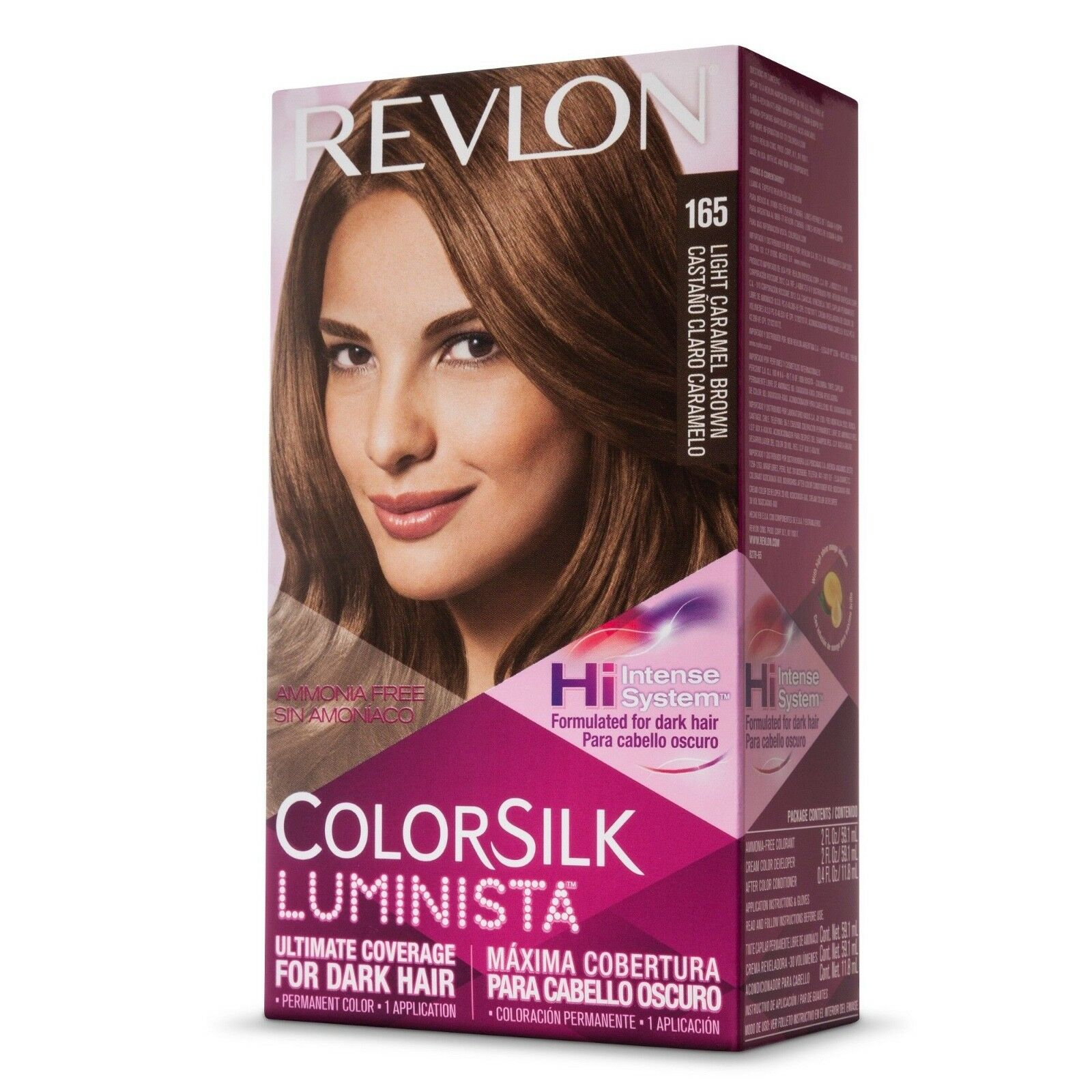 Revlon Colorsilk Luminista Hair Color 165 Light Caramel Brown 1 Ea