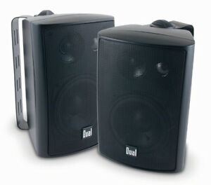 Dual-200-Watts-Weather-Resistant-Indoor-Outdoor-3-Way-Speaker-Black
