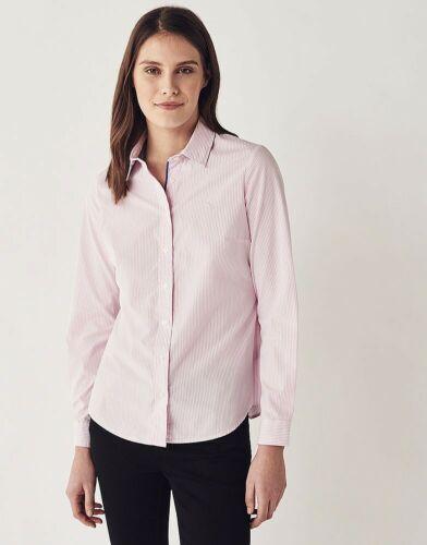 Crew Clothing Women/'s Classic Shirt Classic Pink//White Stripe Size 14 16 18