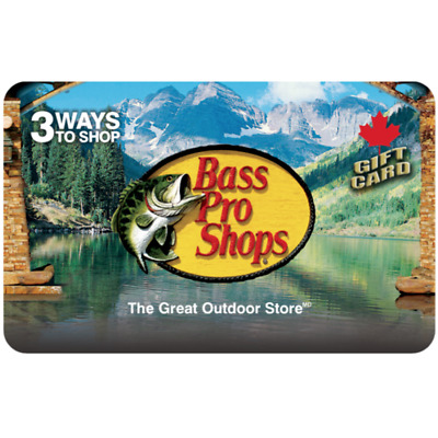 Bass Pro Shops® Gift Card $25, $50, or $100 - Fast email delivery