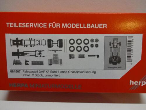Herpa 084567 Châssis DAF XF Euro 6 sans chassis Revêtement 2 Pièces 1:87 Neuf
