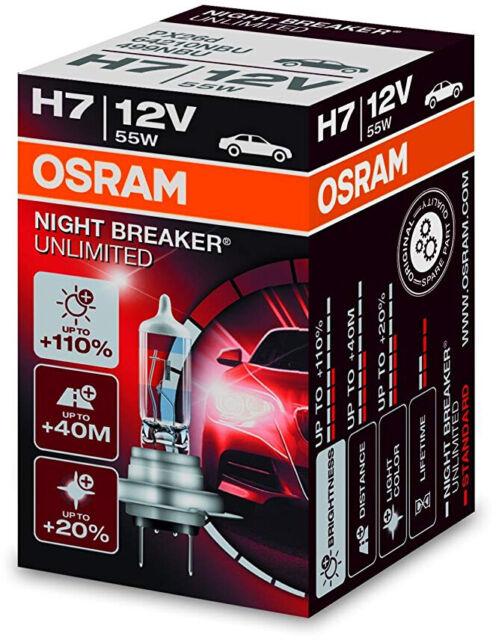 H7 OSRAM NIGHT BREAKER UNLIMITED ALFA ROMEO GT 03-/> LOW BEAM HEADLIGHT BULBS