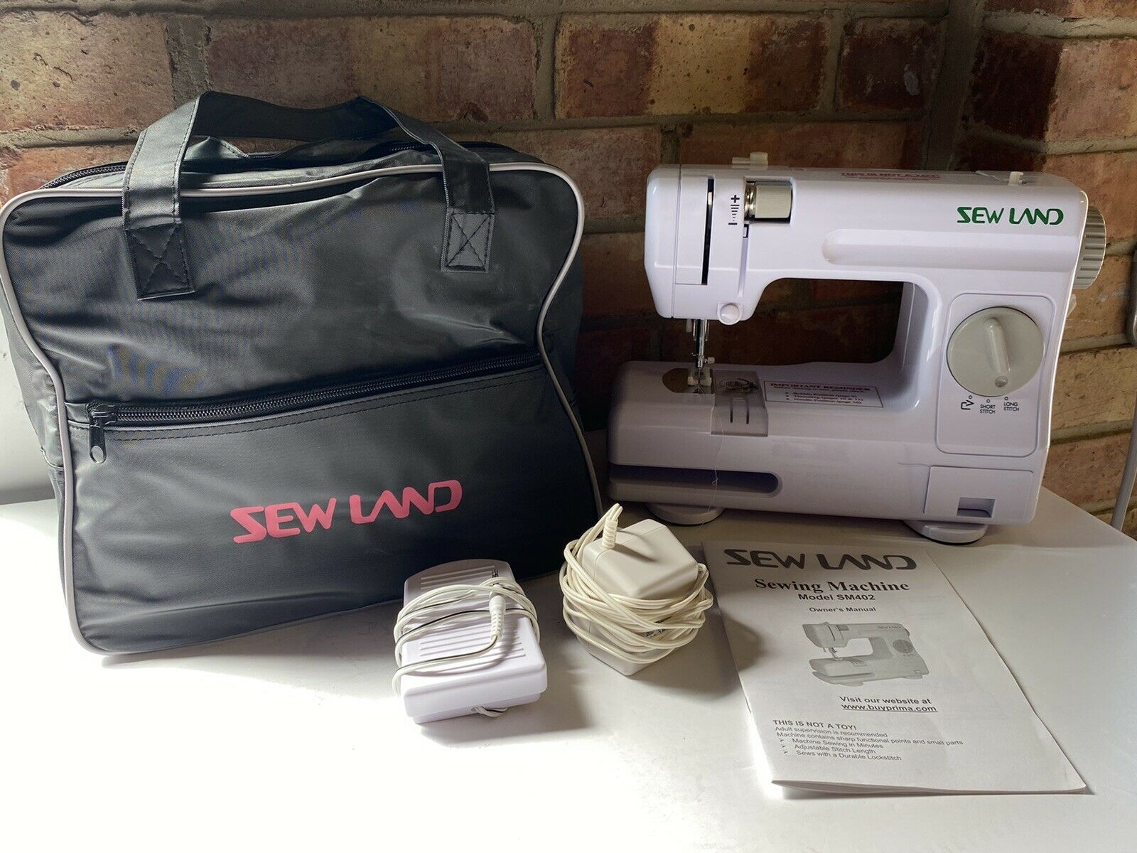 Sew Land Sewing Machine Model SM402 Compact Portable Sewing Machine w Carry Bag