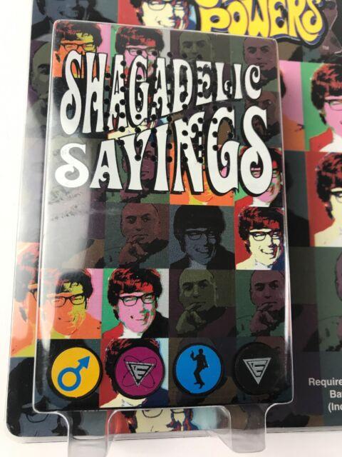Austin Powers Shagadelic Vintage Voice Box 15 Sayings4 Button Hilarious Unique