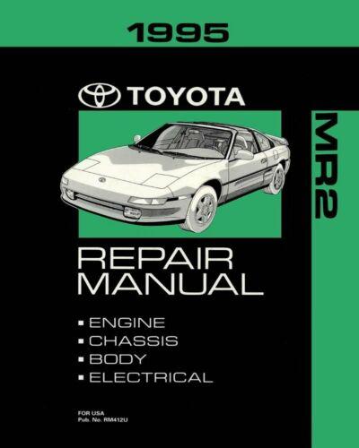 Bishko OEM Repair Maintenance Shop Manual Bound for Toyota Mr-2 1995