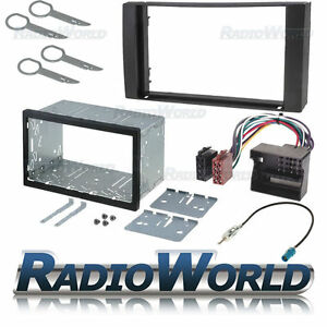Ford-Transit-Double-Din-Fascia-Panel-Adapter-Plate-Cage-Fitting-Kit-ISO