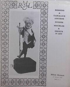 1975 Catalogue Di Vendita Hotel Drouot Sala N°1 Disegni Lavagna Icone Art