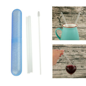 2-Pcs-Reusable-Clear-Glass-Drinking-Straws-with-Brush-Bar-Party-Drinking-Tools