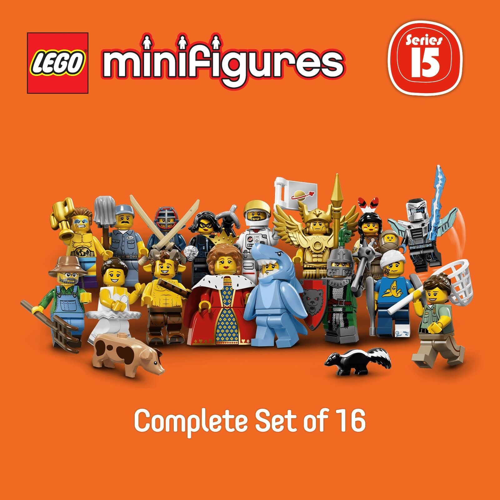 LEGO 71011 Minifigures Series 15  complete set of 16