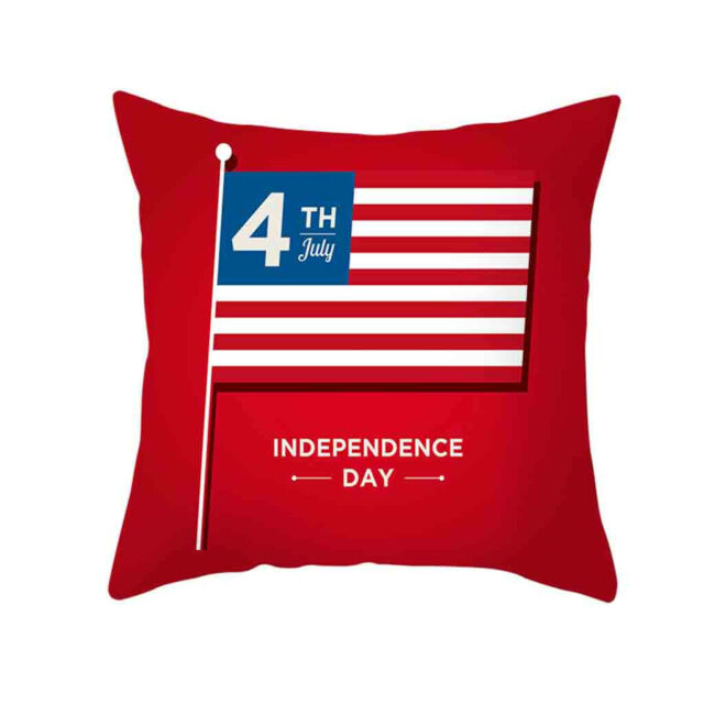 Independence Day 4th Of July Sofa Cushion Cover Home Office Pillow     Case