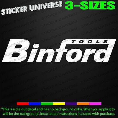 Binford Tools Car Truck Window Decal Bumper Toolbox