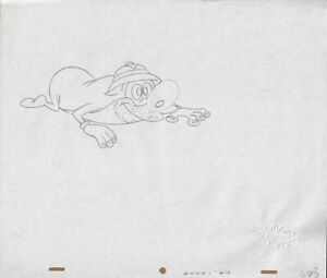 REN-amp-STIMPY-Production-Cel-Drawing-Cell-Seal-COA-Animation-Art-Lair-of-Lummox