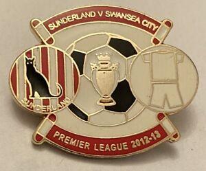 Sunderland V Swansea Premier League 2012-13 Match Day Football Pin Badge