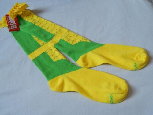 NEW Loki One Pair Knee High Socks Marvel Comics Casual Women/'s Shoe Size 4-10