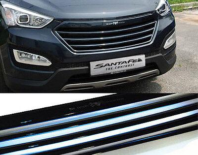 Front Radiator Rear Trunk 3D LED Emblem For 2013 2014 Hyundai Santa Fe DM Sport