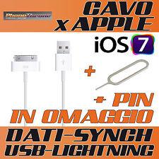 CAVO DATI USB per IPHONE 4 4S 3GS 4G 3G SYNC CARICA DOCK per IPAD per IPOD