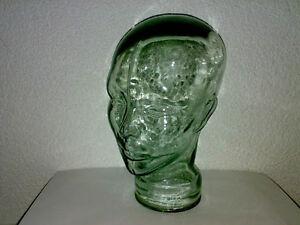 Glaskopf-Kopf-Glas-Kopfhoererhalter-Hohlkopf-Transparent-Glaeserner-Buerger-LOOK