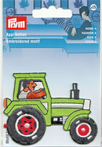 Prym Bügelbild application écusson patch tracteur tracteur Bulldog 60x70mm