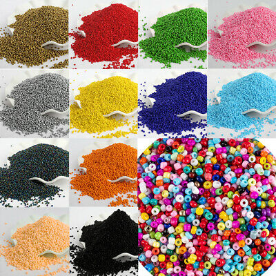 1800pcs Sweets Color Czech Glass Loose Spacer Seed Beads for Jewelry Making 2mm#