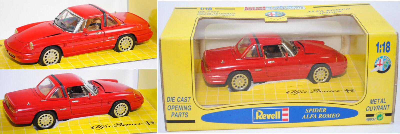Revell 48837 Alfa Romeo Spider 2.0 con hardtop, alfa rojo, 1 18