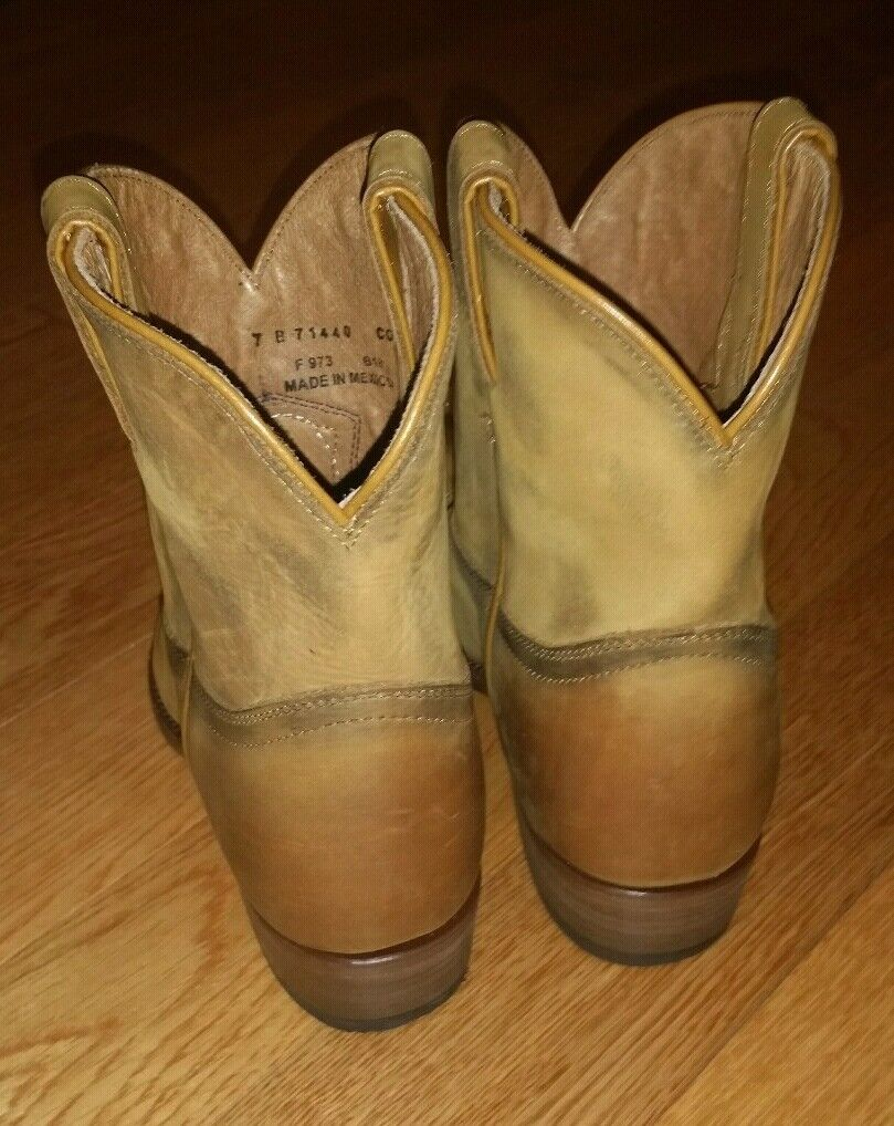 Frye Billy Billy Billy Short Ankle Distressed Leather Western Boots Women's US 7 Cognac  288 119d0c