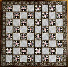 """Mother of Pearl Pattern 17""""x17"""" Compress Wood Folding Chess Checkers Board"""