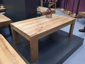 Massivholz Couchtisch Wildeiche Massiv Geölt Holz Tisch 110 X 60