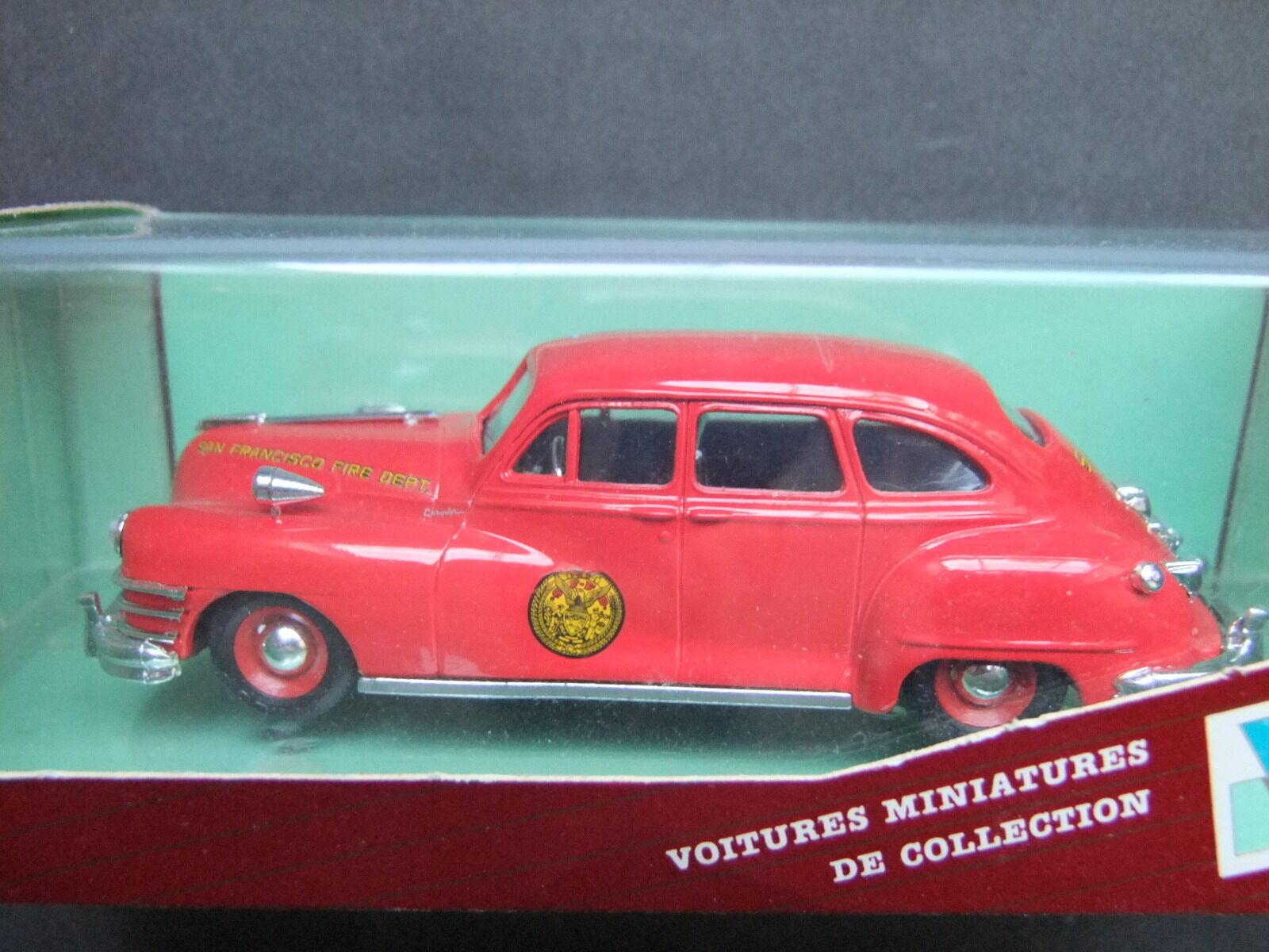 Vitesse 1947 Chrysler Windsor 1 43 Scale - Red San Francisco Fire Dept 373