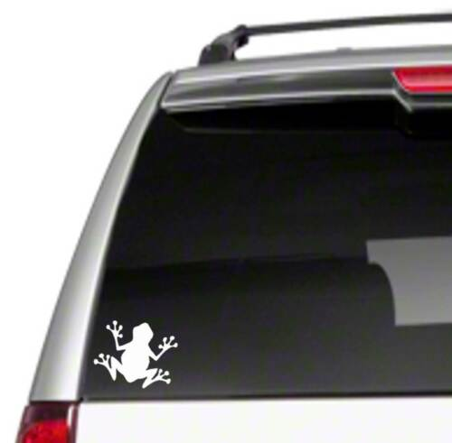 """Frog 5/"""" Car Vinyl Sticker Decal toad reptile tree cute funny disect biology *E9*"""