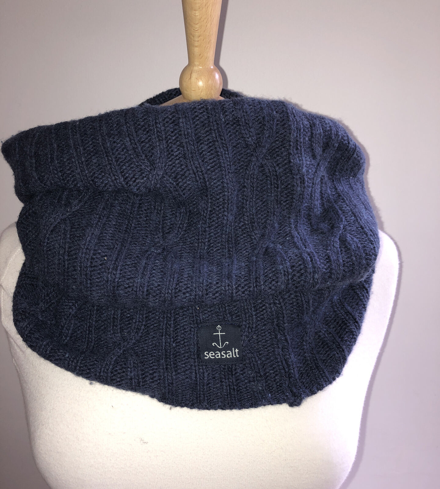 Seasalt Knitted Snood Navy Chunky Big Knit 🧶