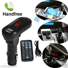 Wireless Bluetooth FM Transmitter MP3 Player Handsfree Car Kit USB Charger SD