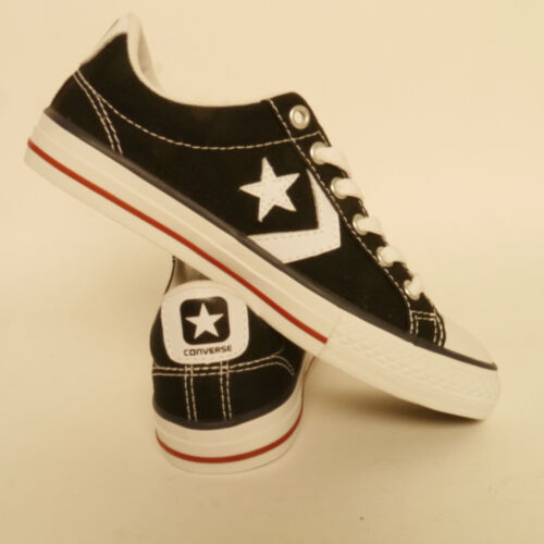 Converse Star Player Kids Trainers Black White New £19.99