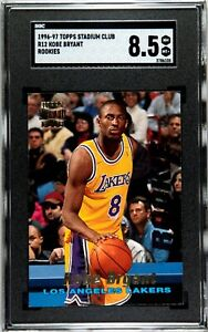 1996-1997 Topps Stadium Club R12 Kobe Bryant Rookie Card Graded SGC 8.5