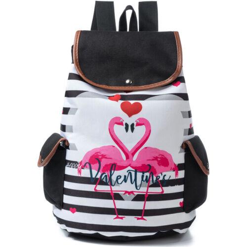 Damen Mädchen Einhorn Flamingo Rucksack Ranzen Schulrucksack Backpack Taschen DE