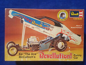 Revell-Ed-034-The-Ace-034-McCulloch-039-s-Model-Kit-1-25-Missing-Tire-and-glue-on-parts